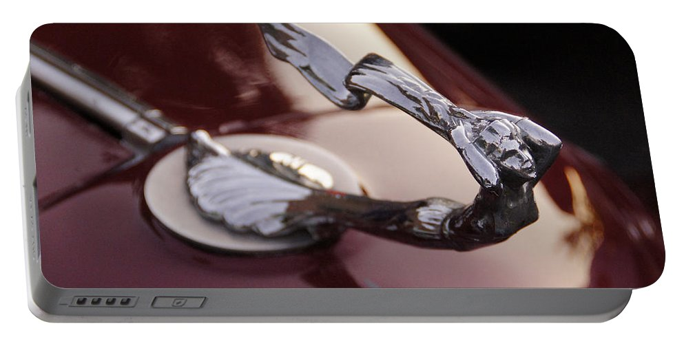 Fancy Portable Battery Charger featuring the photograph Fancy Hood Ornament by Mick Anderson