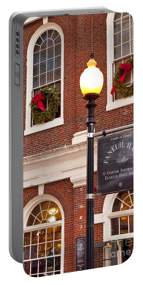 Faneuil Portable Battery Charger featuring the photograph Faneuil Hall by Brian Jannsen