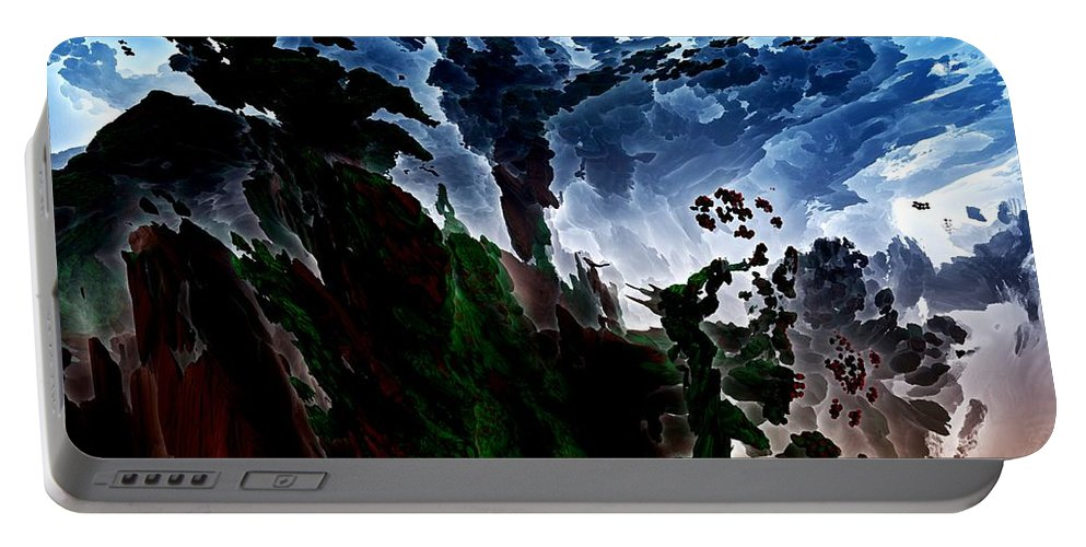 Fine Art Portable Battery Charger featuring the digital art Fantasy 062112 by David Lane