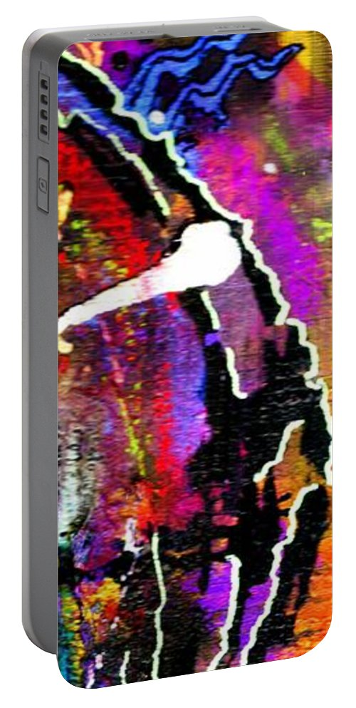 Greeting Cards Portable Battery Charger featuring the mixed media Fantasy Land by Angela L Walker