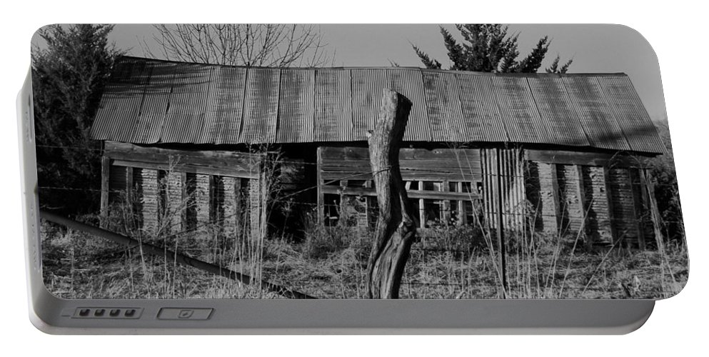 Farm Portable Battery Charger featuring the photograph Farmers Building by Chris Berry
