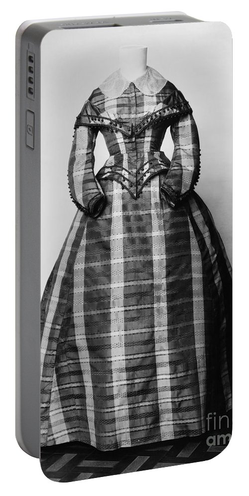 1865 Portable Battery Charger featuring the photograph Fashion: Dress, C1865 by Granger