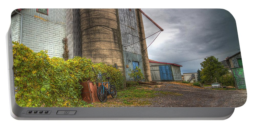 Acrylic Prints Portable Battery Charger featuring the photograph Feed And Farm Supplies by John Herzog