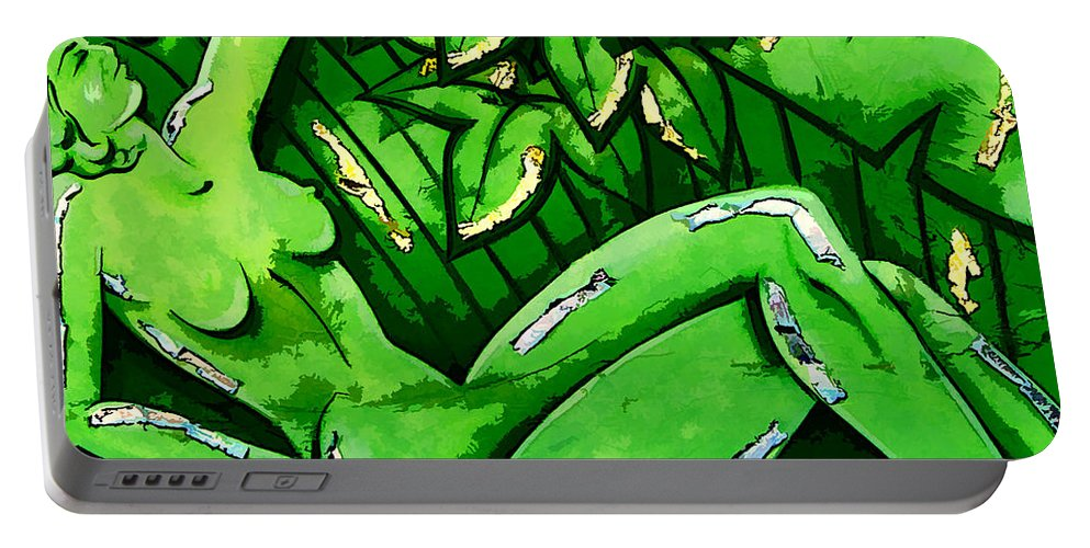 Mardi Gras Portable Battery Charger featuring the photograph Female On A Mardi Gras Float Painted by Kathleen K Parker