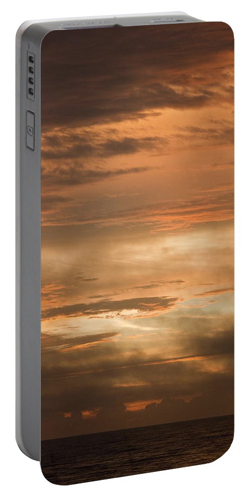 Sunrise Portable Battery Charger featuring the photograph Fiery Atlantic Sunrise 2 by Teresa Mucha