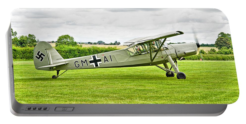 Fieseler Fi 156 Storch Portable Battery Charger featuring the photograph Fieseler Fi 156 Storch by Chris Thaxter
