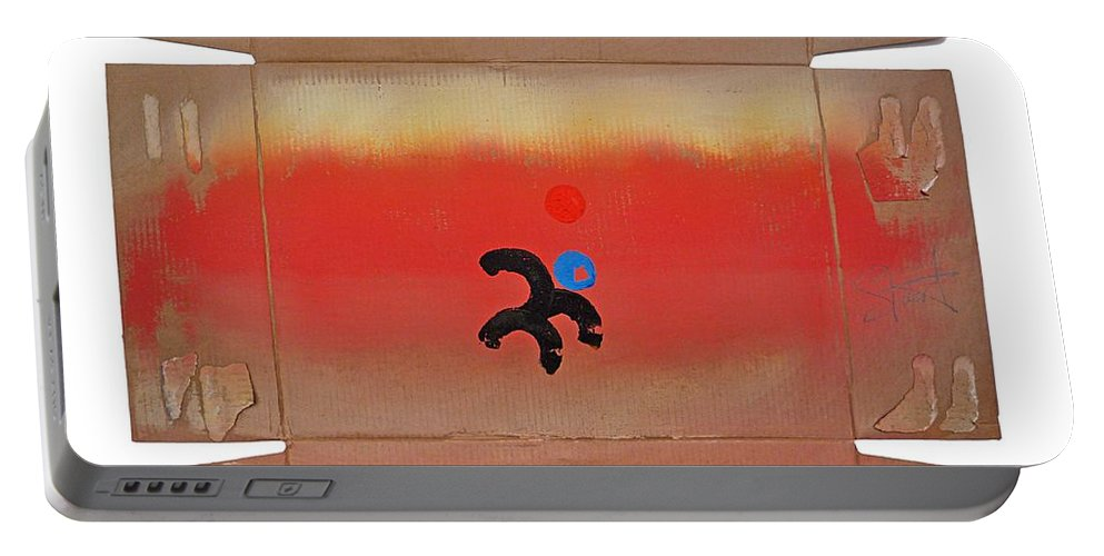 Africa Portable Battery Charger featuring the painting Figure In A Landscape by Charles Stuart
