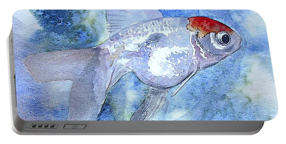 Fish Portable Battery Charger featuring the painting Fillet by J Vincent Scarpace