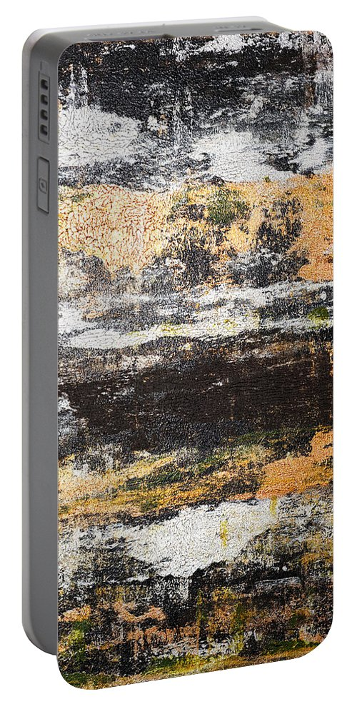 Black Portable Battery Charger featuring the painting Fine Pedigree by Julie Niemela