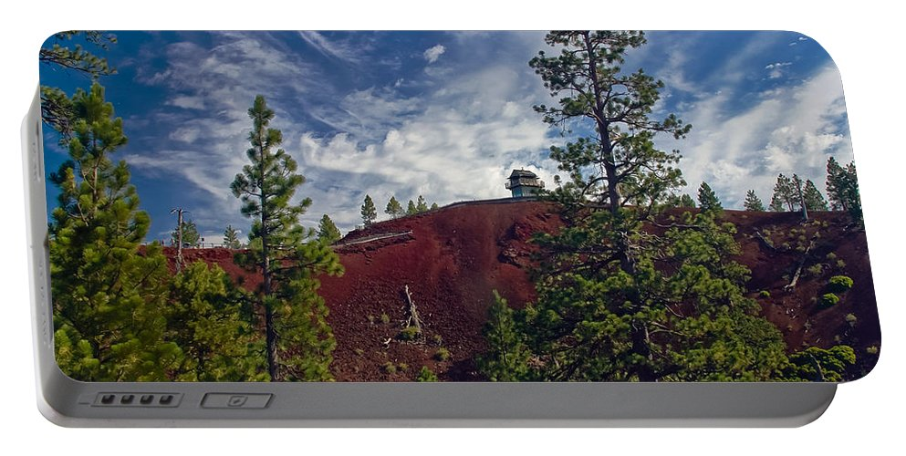 Buildings Lookout Portable Battery Charger featuring the photograph Fire Lookout II by Robert Bales