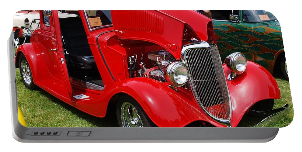 Red Portable Battery Charger featuring the photograph Fire Red Classic by Teri Schuster