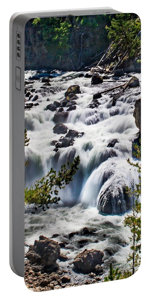 Scenic Portable Battery Charger featuring the photograph Firehole River IIi by Robert Bales