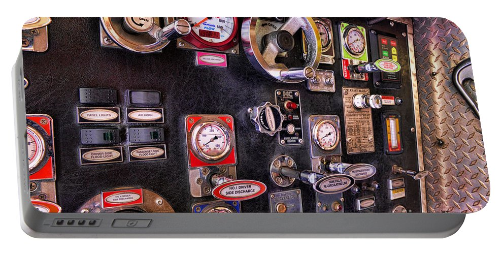 Fireman Portable Battery Charger featuring the photograph Fireman - Discharge Panel by Paul Ward