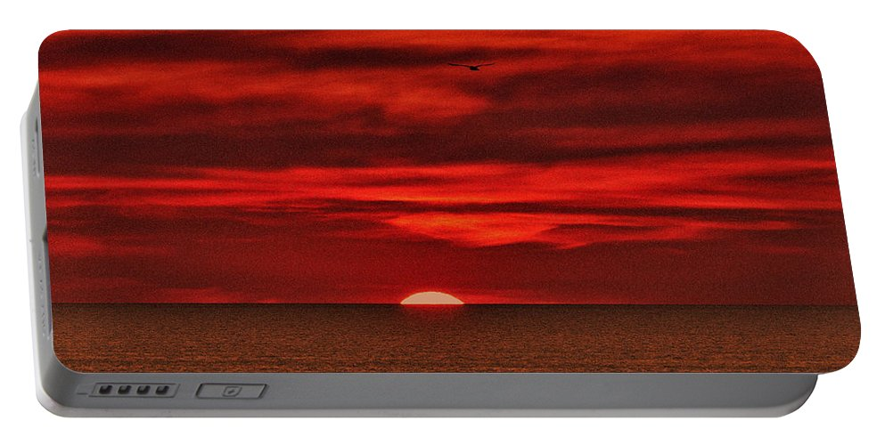 Sunset Portable Battery Charger featuring the photograph Firesky V3 by Douglas Barnard