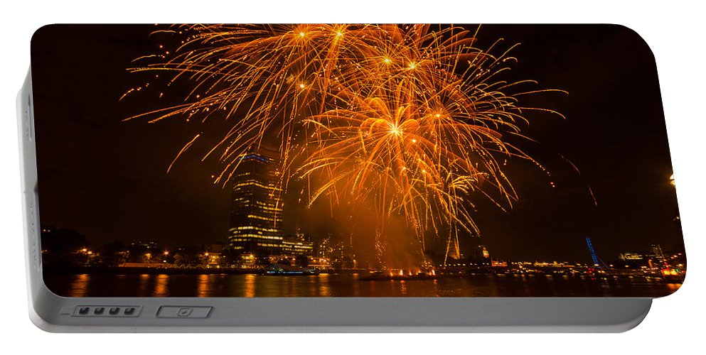 Dawn Oconnor Dawnoconnorphotos@gmail.com Portable Battery Charger featuring the photograph Fireworks London by Dawn OConnor