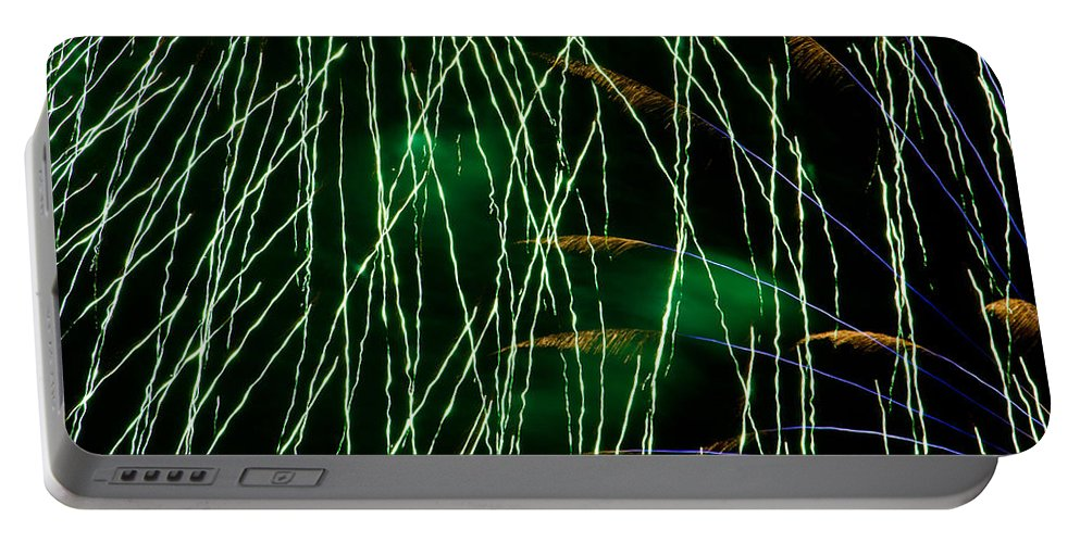 Fireworks Portable Battery Charger featuring the photograph Fireworks Up Close by Bill Lindsay