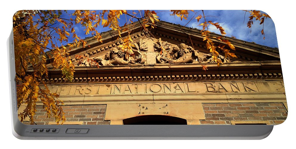 First National Bank Portable Battery Charger featuring the photograph First National Bank by Tim Nyberg