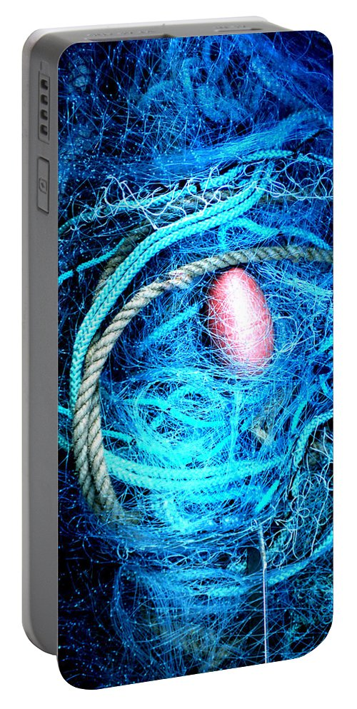 Colette Portable Battery Charger featuring the photograph Fish Robe Net  by Colette V Hera Guggenheim