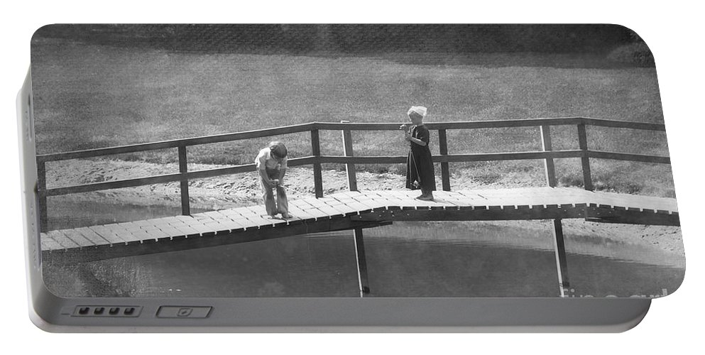 Amish Portable Battery Charger featuring the photograph Fishers by David Arment