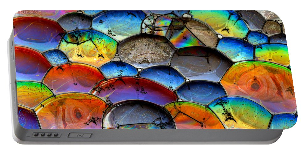 Bubbles Portable Battery Charger featuring the photograph Fishy Bubbles by Jean Noren