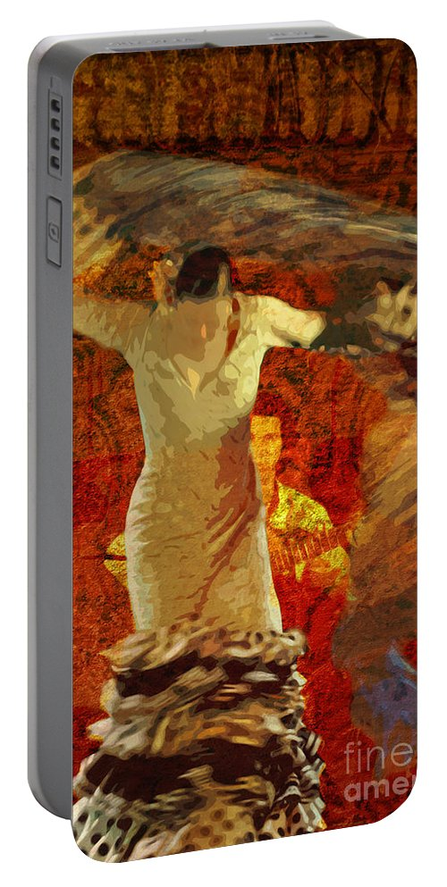 Flamenco Portable Battery Charger featuring the photograph Flamenco Series No 2 by Mary Machare
