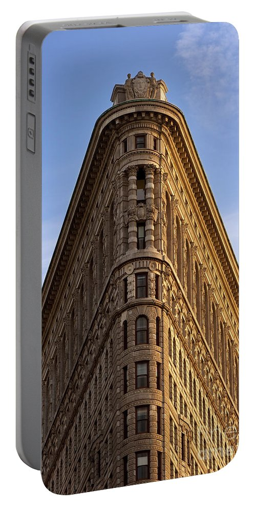 Flatiron Building Portable Battery Charger featuring the photograph Flatiron Building by Brian Jannsen