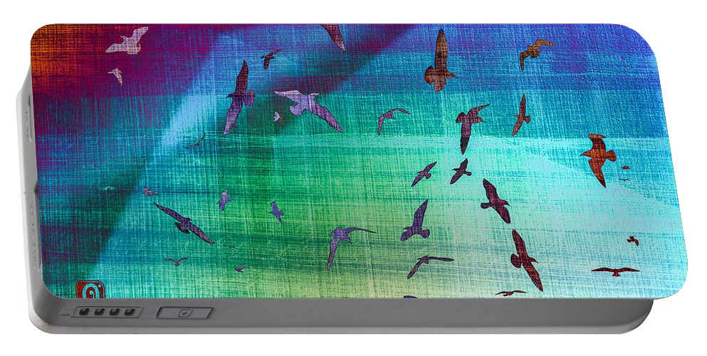 Seagulls Portable Battery Charger featuring the photograph Flock Of Seagulls by Hakon Soreide
