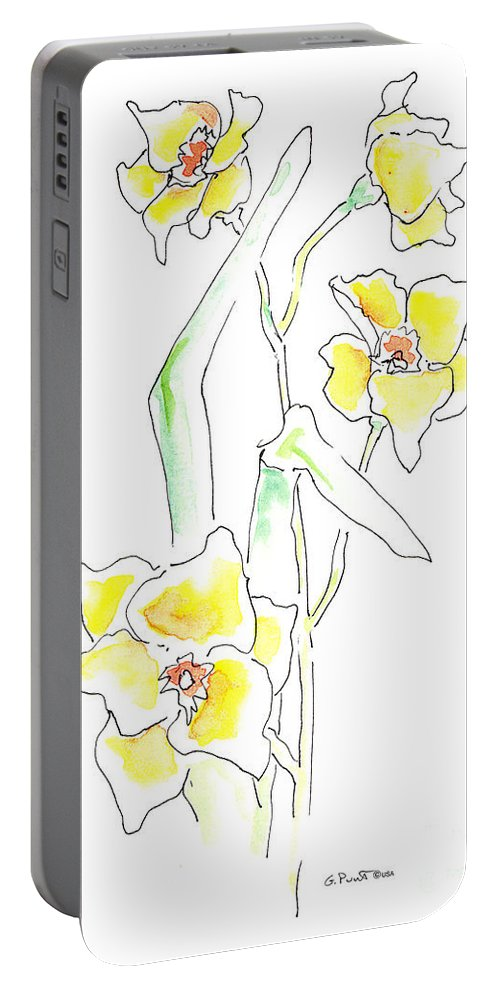 Watercolor Paintings Portable Battery Charger featuring the painting Floral Paintings 2 by Gordon Punt