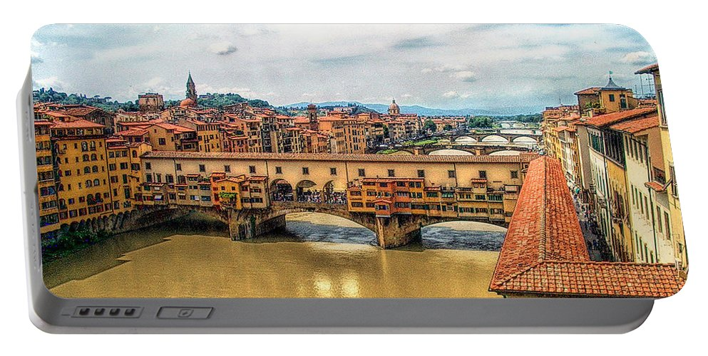 Florence Portable Battery Charger featuring the photograph Florence Bridges II by C H Apperson