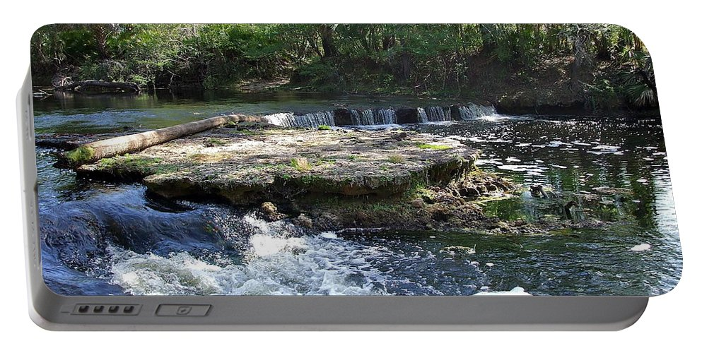 Serene Portable Battery Charger featuring the photograph Florida Rapids by Susan Wyman