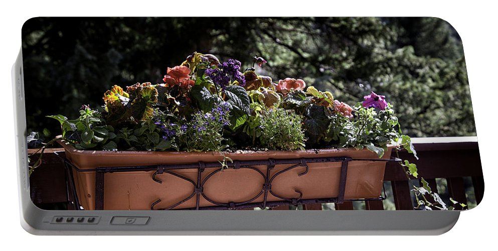 Flowers Portable Battery Charger featuring the photograph Flower Box by Madeline Ellis