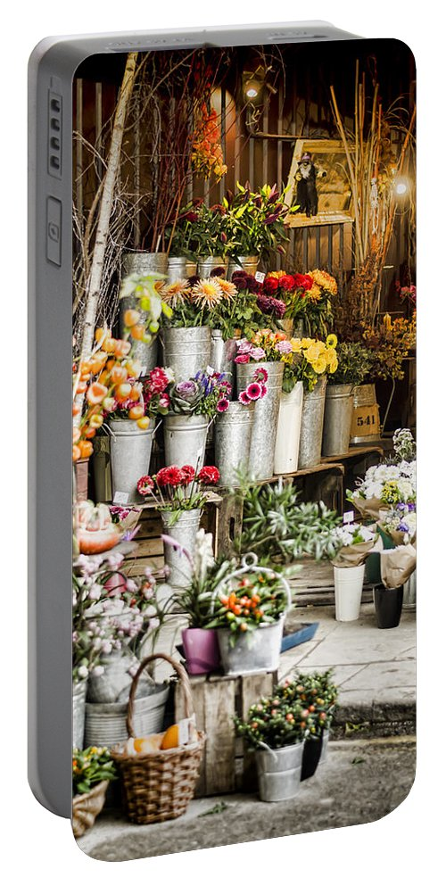 Florist Portable Battery Charger featuring the photograph Flower Shop by Heather Applegate