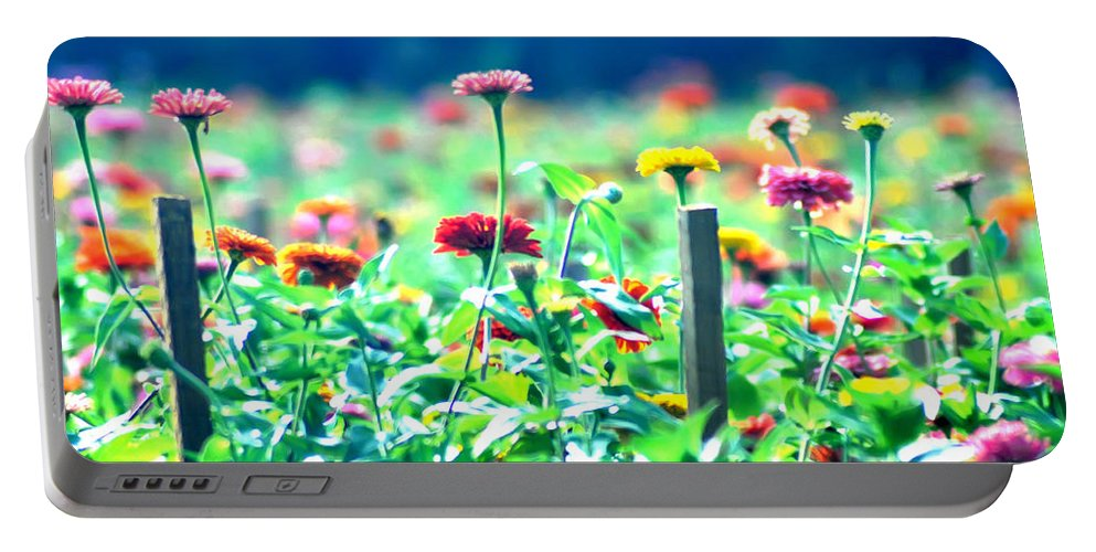 Flowers Portable Battery Charger featuring the photograph Flowers Everywhere by Bill Cannon