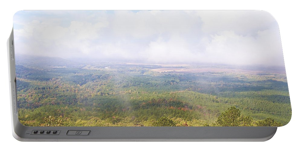 Landscape Portable Battery Charger featuring the photograph Foggy Morning by Terry Anderson