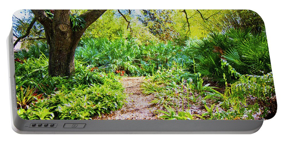 Trees Portable Battery Charger featuring the digital art Follow The Path by Betsy Knapp