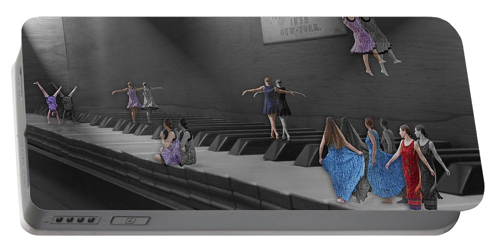 Piano Portable Battery Charger featuring the digital art Following My Lead by Betsy Knapp