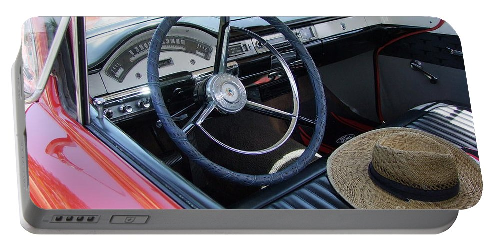 Ford Ranchero Portable Battery Charger featuring the photograph Ford Ranchero Seating by Mary Deal