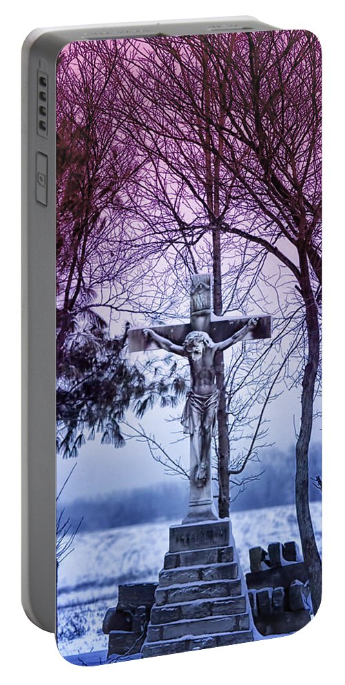Religion Portable Battery Charger featuring the photograph Forgiveness by Linda Tiepelman
