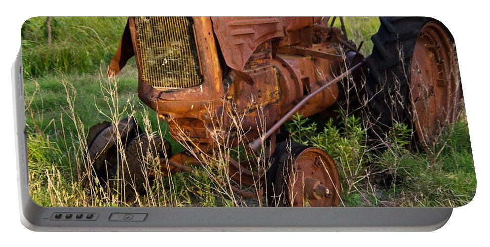 Tractor Portable Battery Charger featuring the photograph Forgotten Tractor 20 by Douglas Barnett