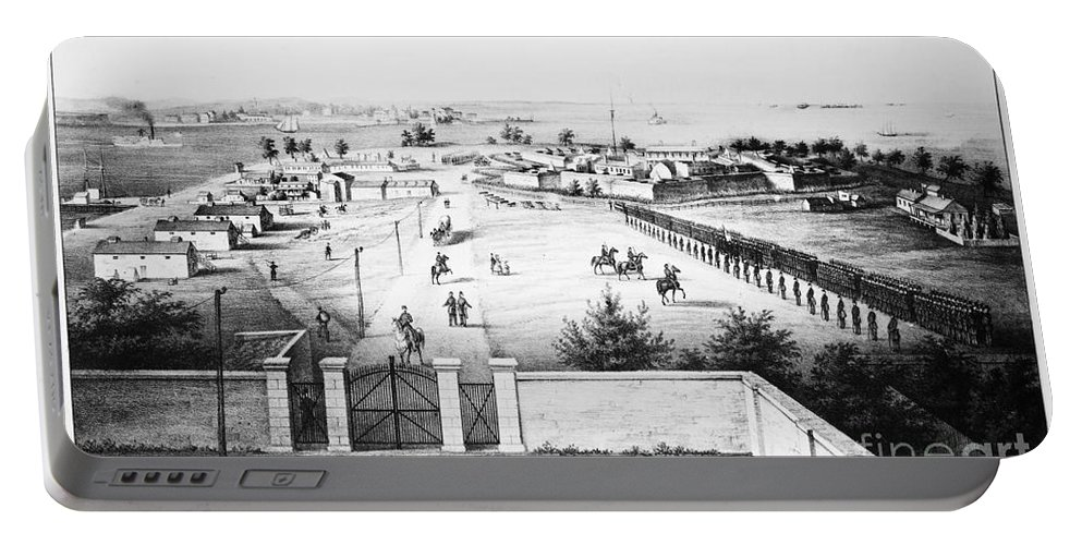 1862 Portable Battery Charger featuring the photograph Fort Mchenry, 1862 by Granger