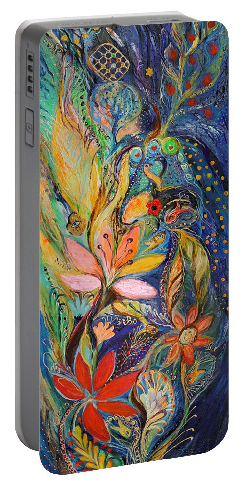 Original Portable Battery Charger featuring the painting Four Elements Water Part 1 From 4 by Elena Kotliarker