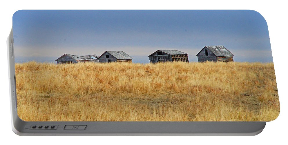 Old Barn Portable Battery Charger featuring the photograph Four In A Row by Randy Harris