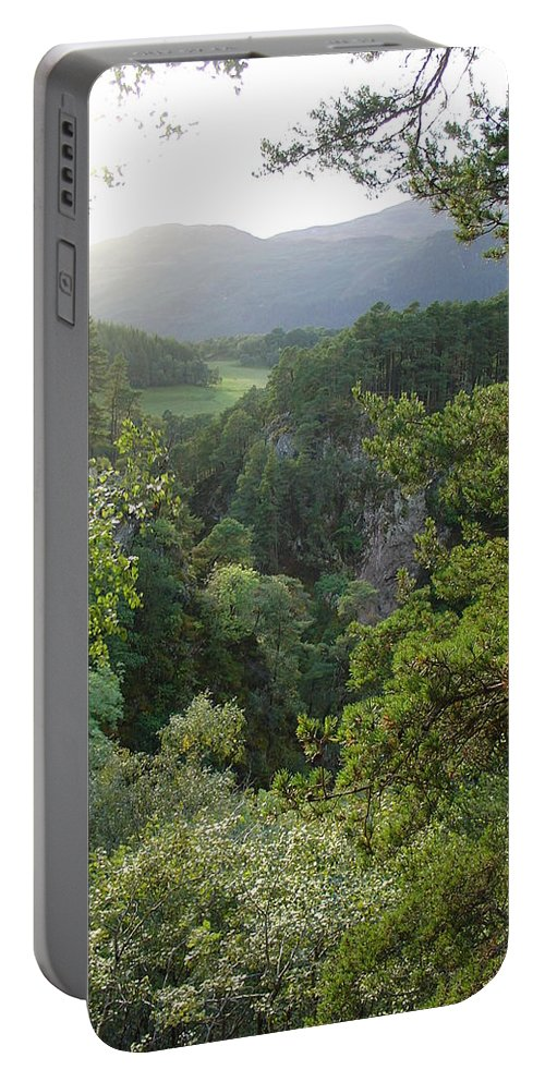 Foyers Portable Battery Charger featuring the photograph Foyers Valley by Charles and Melisa Morrison