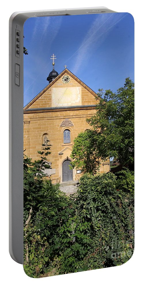 Franconian Church Portable Battery Charger featuring the photograph Franconian Village Church by Christiane Schulze Art And Photography