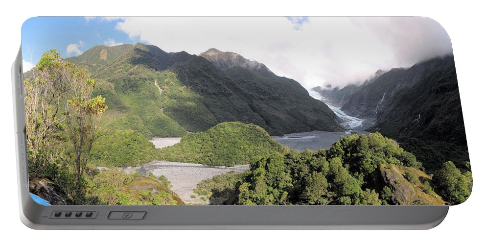 Franz Josef Portable Battery Charger featuring the photograph Franz Josef Glacier Nz by C H Apperson