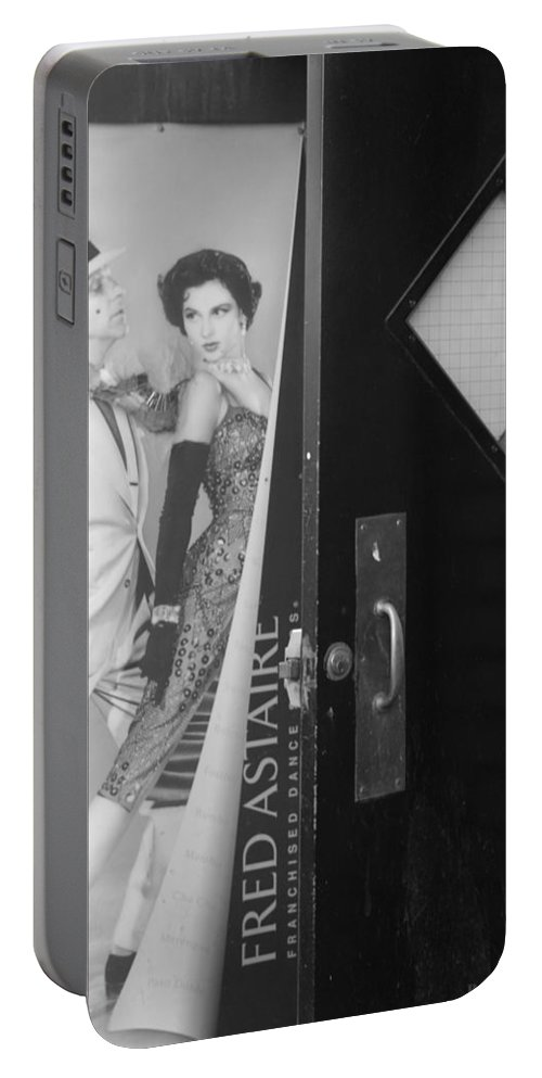 Fred Astaire Portable Battery Charger featuring the photograph Fred And Ginger In Black And White by Rob Hans