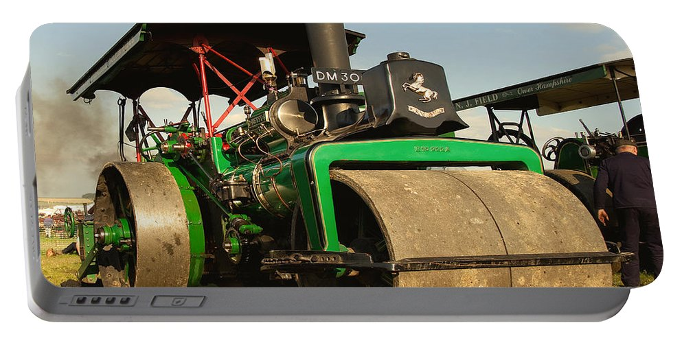 Fred Dibnah Portable Battery Charger featuring the photograph Fred's Betsy by Rob Hawkins