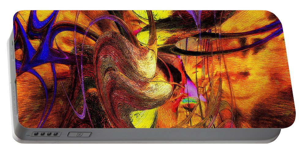 Colorful Portable Battery Charger featuring the digital art Free Your Mind by Mike Butler