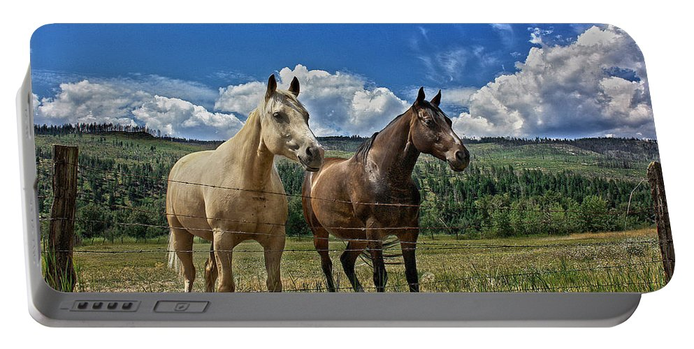 Horses Portable Battery Charger featuring the photograph Freedom Riders by The Artist Project