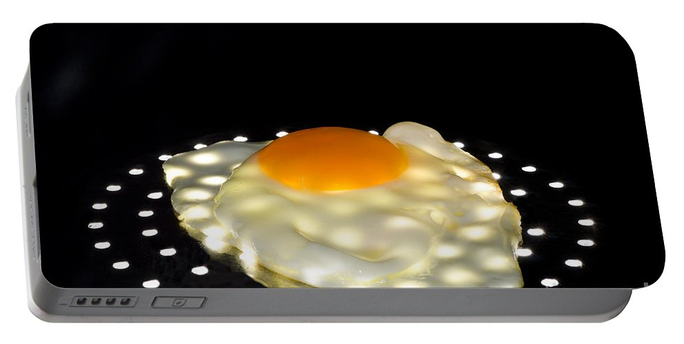Egg Portable Battery Charger featuring the photograph Fried Egg by Mats Silvan